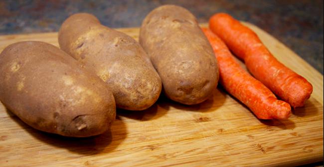 3 картошки и 2 моркови