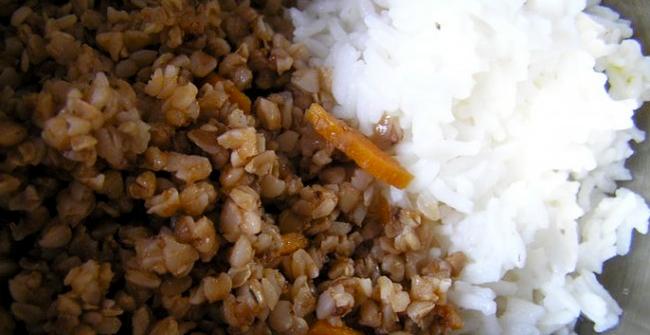 гречневая и рисовая каша